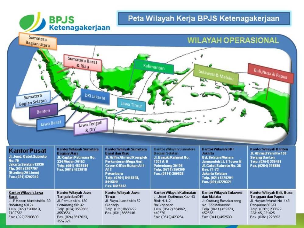 Alamat Kantor Bpjs Divisi Regional I Ii Dan Iii Salmah Sumayya